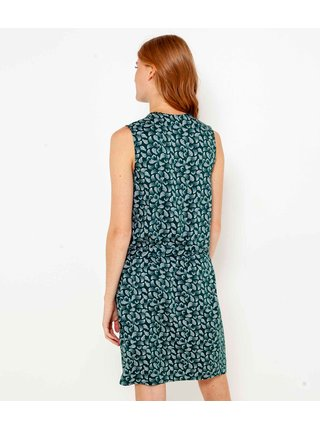 Zelené vzorované šaty CAMAIEU