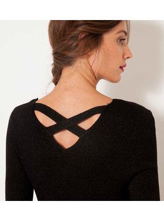 Čierny sveter s odhaleným chrbtom CAMAIEU