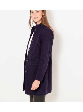 Tmavě modrý zimní kabát CAMAIEU