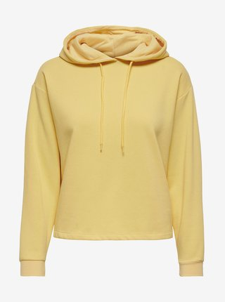 Žltá mikina s kapucou ONLY Comfy