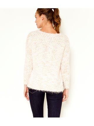 Růžovo-bílý svetr CAMAIEU