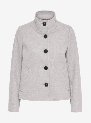 Světle šedý kabátek ONLY Victoria
