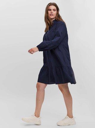 Tmavě modré košilové šaty VERO MODA CURVE Abby