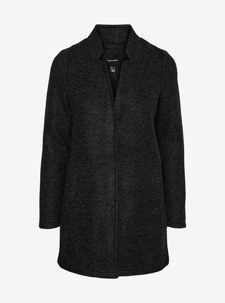 Tmavě šedý kabát VERO MODA CURVE Brushedkatrine