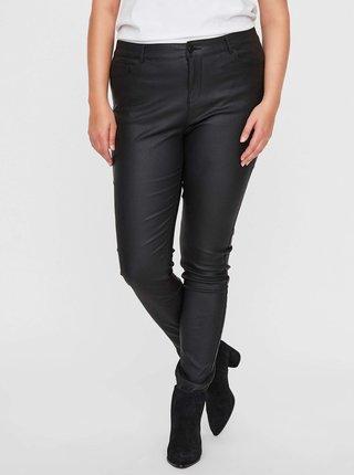 Čierne koženkové nohavice VERO MODA CURVE Seven