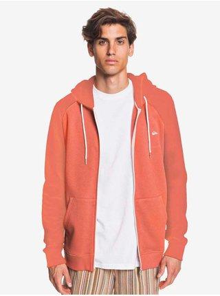Quiksilver EVERYDAY REDWOOD pánská mikiny na zip - oranžová
