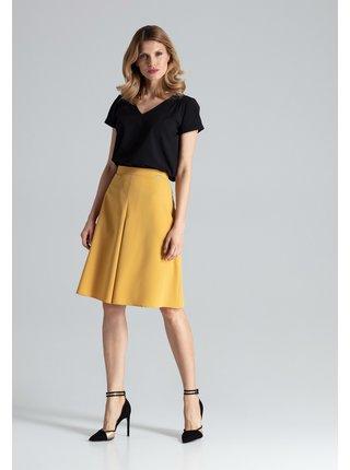 Figl sukně  -  hořčice