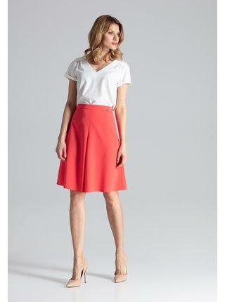 Figl sukně  -  korálová