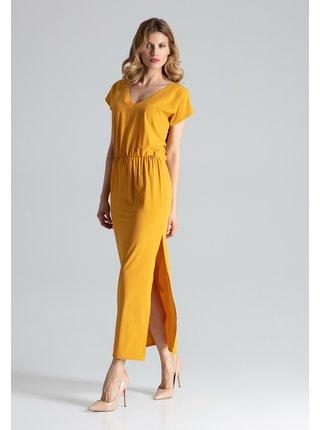 Figl šaty  -  hořčice