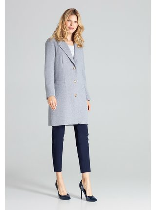 Šedý dámský kabát Figl