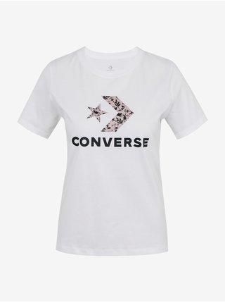 Tričká s krátkym rukávom pre ženy Converse - biela