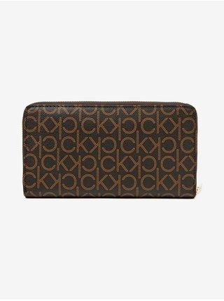 Peňaženky pre ženy Calvin Klein - hnedá