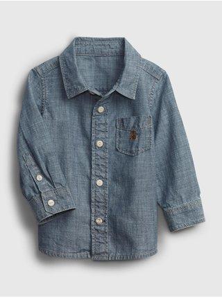 Modrá klučičí košile chambray shirt