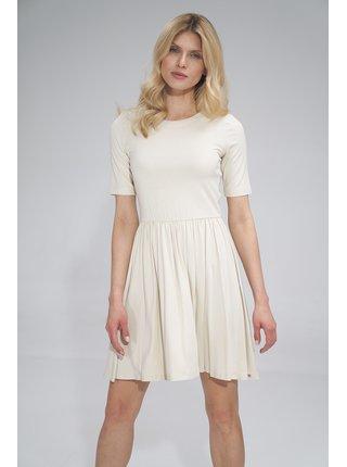 Figl šaty  -  ECRU