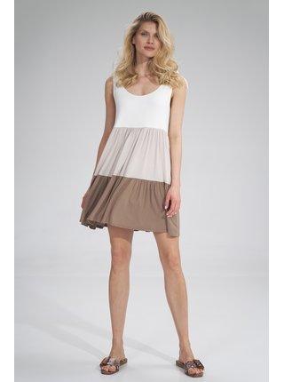 Figl šaty  -  MOCCA / BEIGE / ECRU