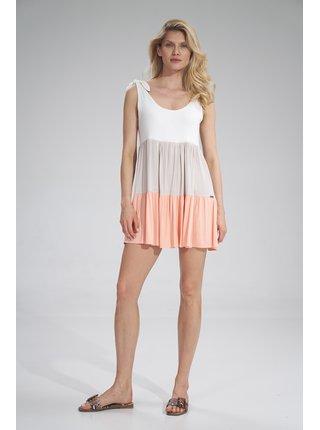 Figl šaty  -  Peach / Beige / ECU