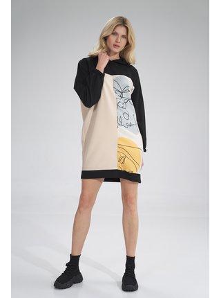 Figl šaty  -  černá / béžová