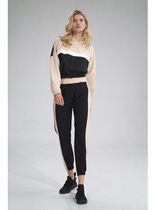 Figl kalhoty  -  černá / béžová