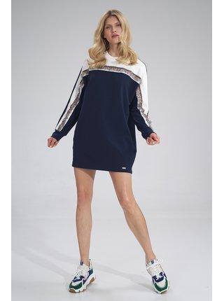 Figl šaty  -  ECRU / Navy