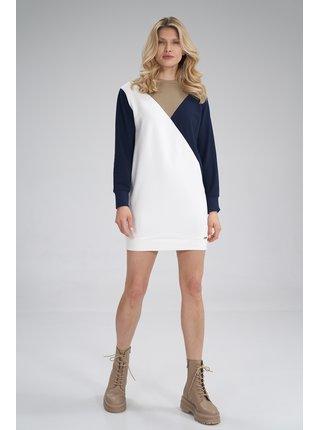 Figl šaty  -  béžová / námořnická
