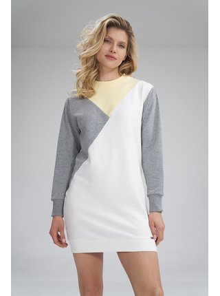 Figl šaty  -  žlutá / šedá / ecru