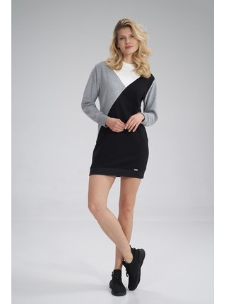 Figl šaty  -  ECRU / šedá / černá