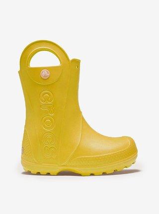 Žlté drtské čižmy Crocs