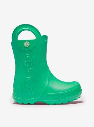 Zelené detské čižmy Crocs