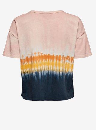 Modro-růžové vzorované tričko Jacqueline de Yong Daisi