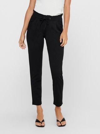 Černé zkrácené kalhoty se zavazováním Jacqueline de Yong Catia