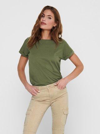 Zelené basic tričko Jacqueline de Yong Louisa
