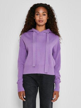 Fialový sveter s kapucou Noisy May Ship