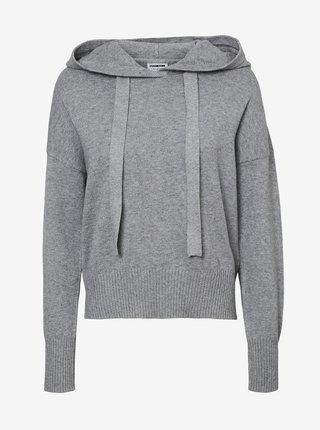 Šedý sveter s kapucou Noisy May Ship