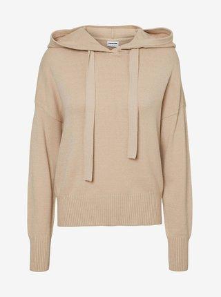 Béžový sveter s kapucou Noisy May Ship