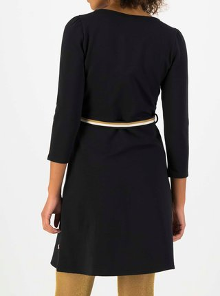 Černé šaty s páskem Blutsgeschwister Très Charmeuse