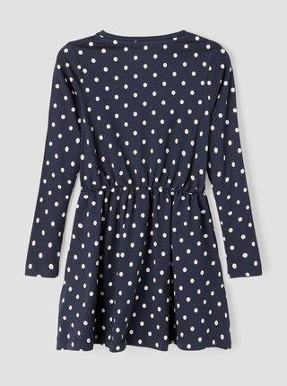 Tmavě modré holčičí puntíkované šaty name it Vip