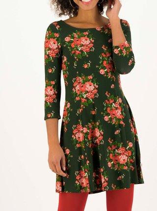 Zelené kvetované šaty Blutsgeschwister Swing Lovers