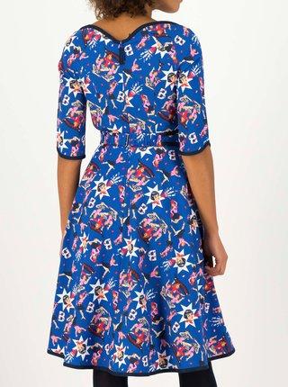 Modré vzorované šaty Blutsgeschwister  Thanksgiving Love