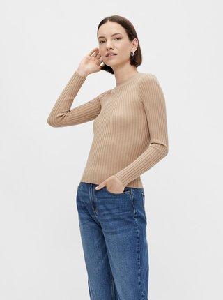 Béžový svetr Pieces Rista