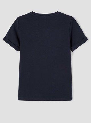 Tmavě modré klučičí tričko s potiskem name it Minions
