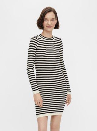 Šaty na denné nosenie pre ženy Pieces - čierna, béžová