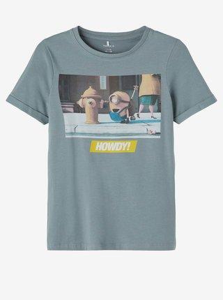 Světle modré klučičí tričko s potiskem name it Minions