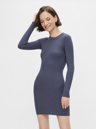 Modré svetrové šaty Pieces Rista