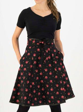 Čierna kvetovaná sukňa Blutsgeschwister Harvest Moon