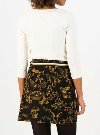 Čierna vzorovaná sukňa Blutsgeschwister