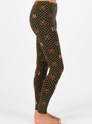 Žluto-černé dámské vzorované legíny Blutsgeschwister Lovely Legs