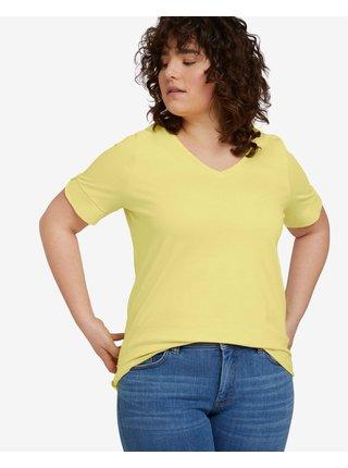 Móda pre plnoštíhle pre ženy Tom Tailor - žltá