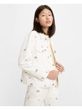 Rifľové bundy pre ženy Levi's® - biela