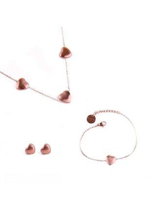 Dámský set v růžovo-zlaté barvě VUCH Trio of Rose gold Sparkle