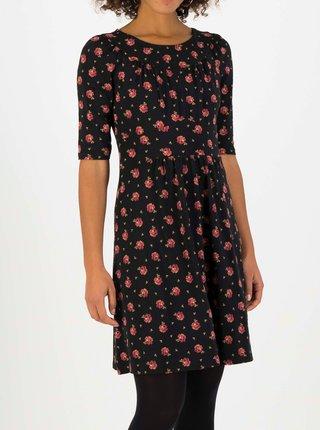 Čierne kvetované šaty Blutsgeschwister Home Sweet Home